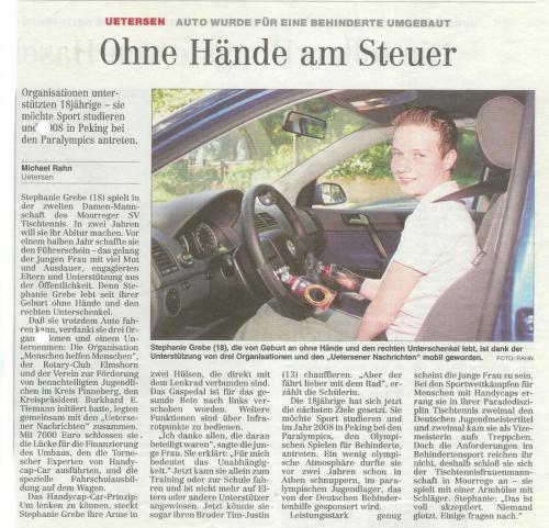 Führerschein für Stephanie Grebe
