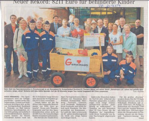 Start zum Spendenmarsch 2009